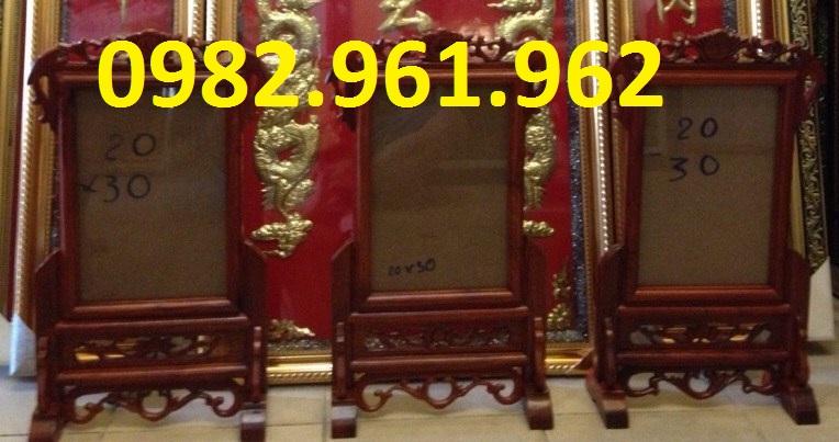 bán khung ảnh bằng gỗ gụ