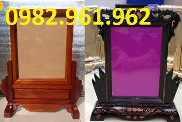 khung ảnh thờ 20x30 gỗ gụ