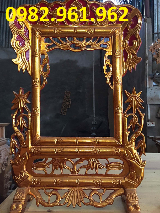 khung ảnh thờ 25x35 bằng gỗ hương