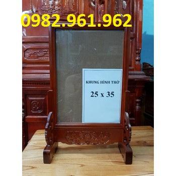 khung ảnh thờ 35x40 gỗ gụ