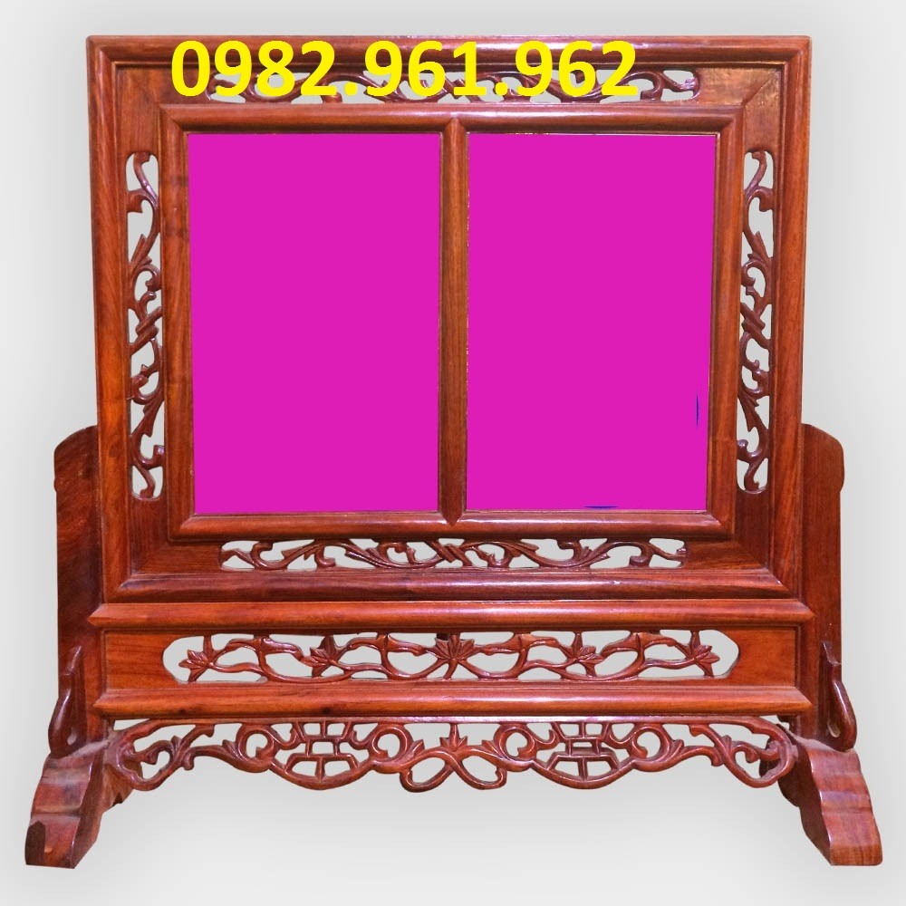 khung ảnh thờ cha mẹ bằng gỗ gụ