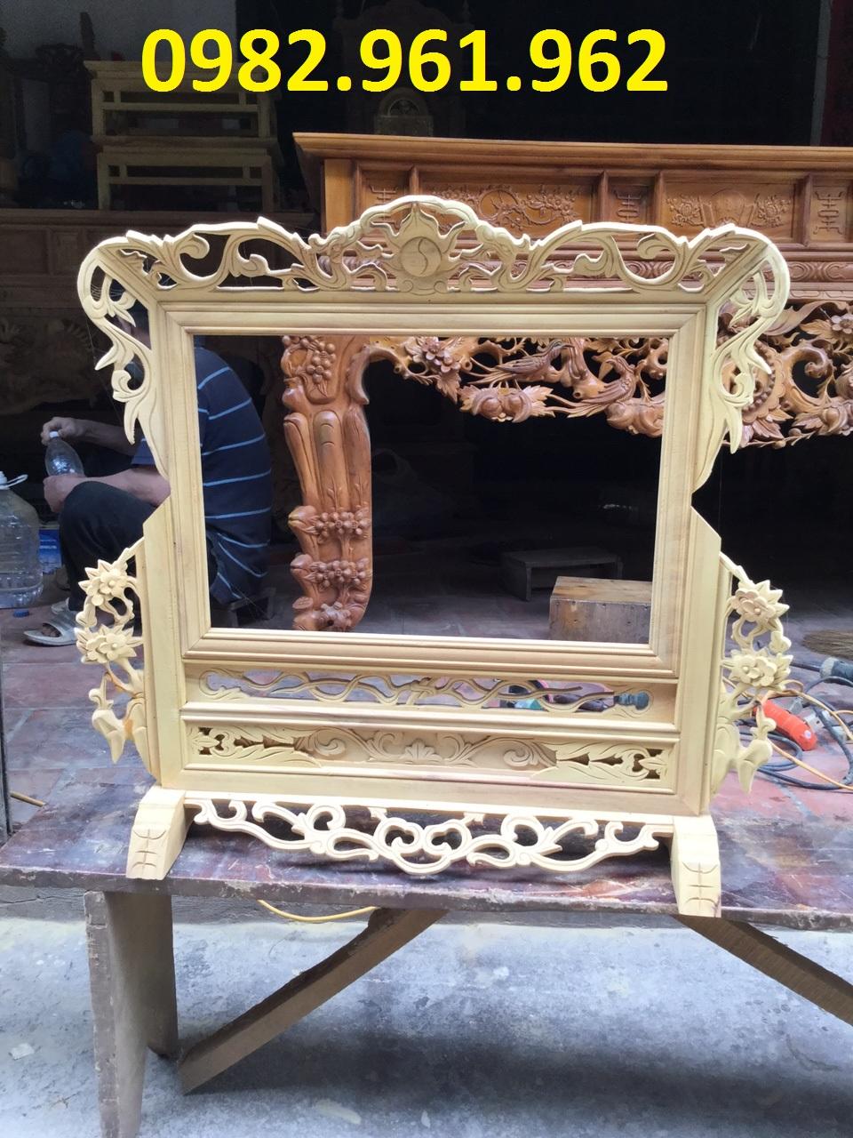khung ảnh thờ cha mẹ bằng gỗ mít