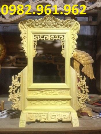 khung ảnh thờ gỗ mít màu vàng