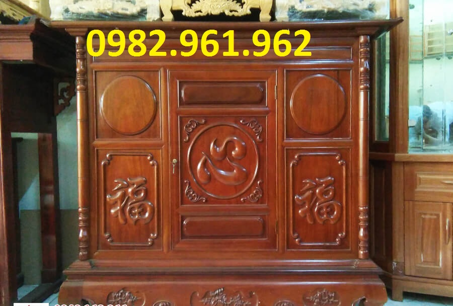 Tủ thờ gia tiên gỗ Gụ - TTG043