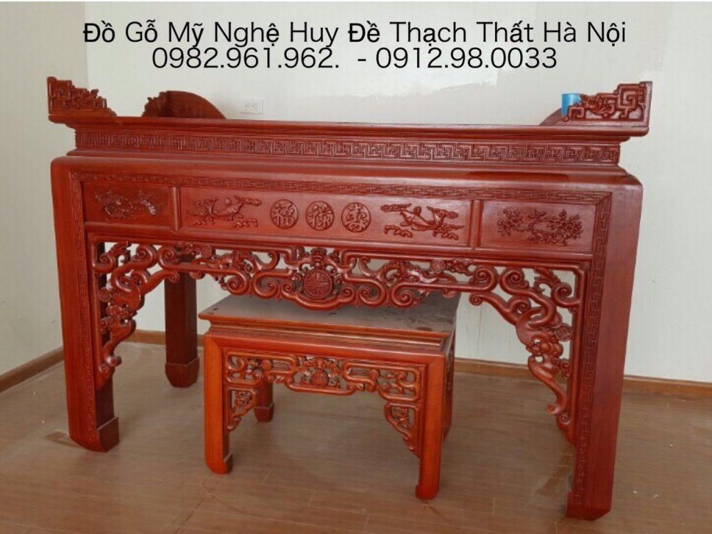 bàn thờ án thờ gỗ mít và gỗ gụ