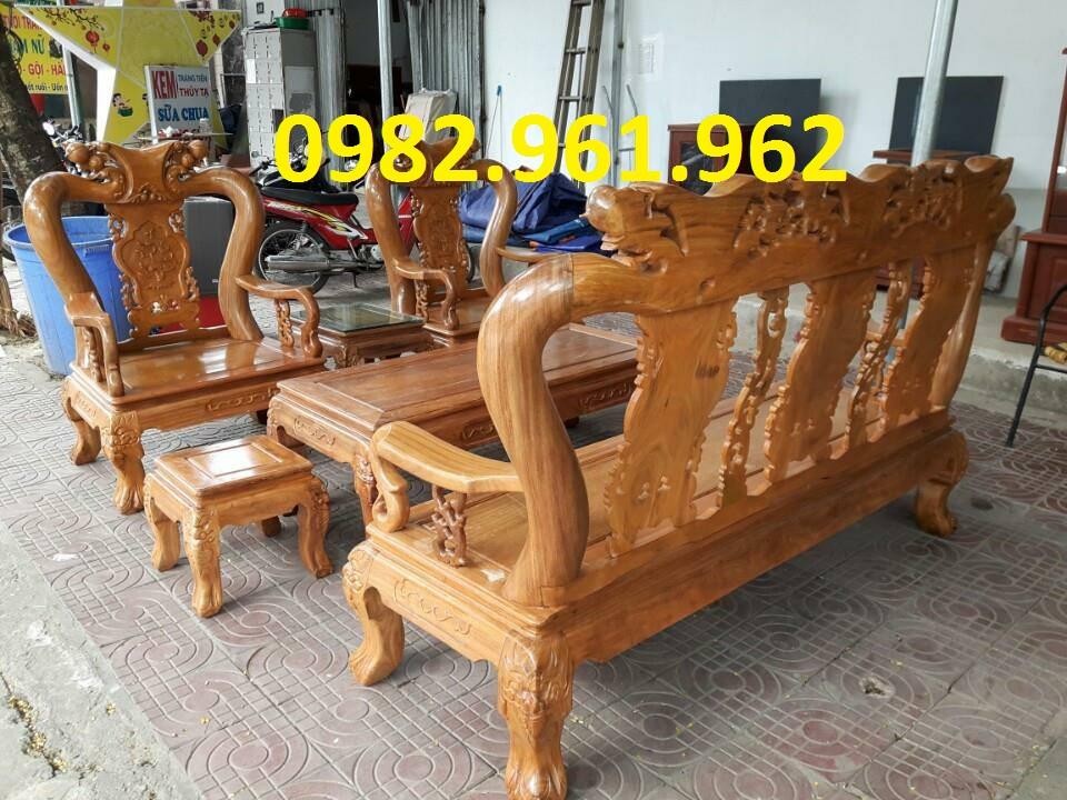 bàn ghế phòng khách minh đào gỗ hương lào
