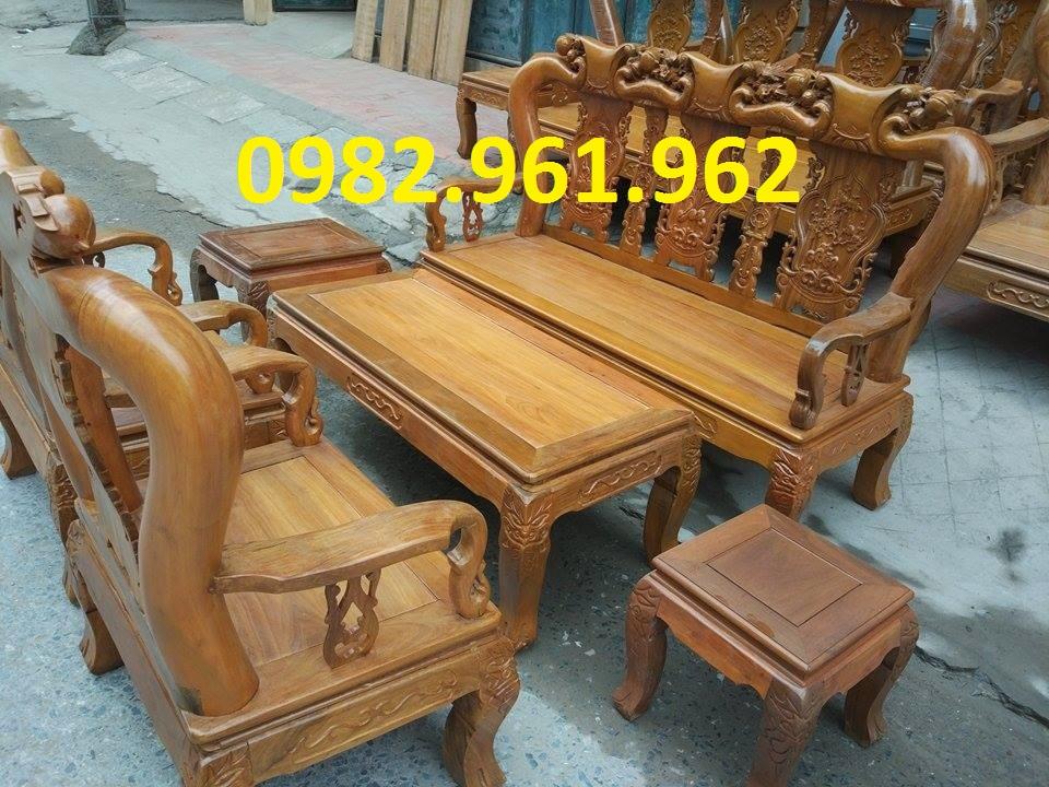 bàn ghế phòng khách minh đào gỗ hương vân