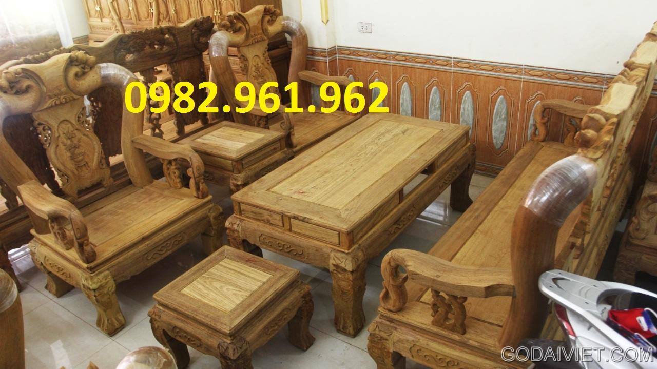 bộ ghế phòng khách minh đào gỗ