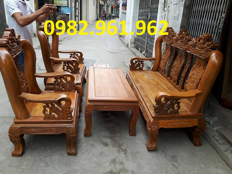 ghế phòng khách minh đào gỗ giá mua bán