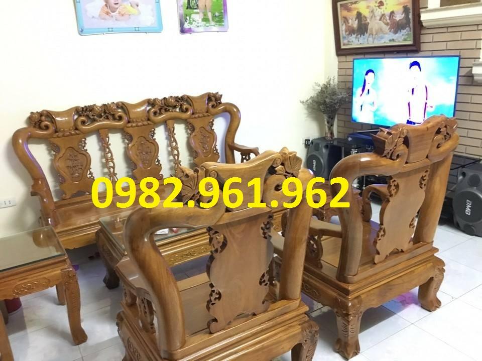 ghế phòng khách minh đào gỗ giá rẻ