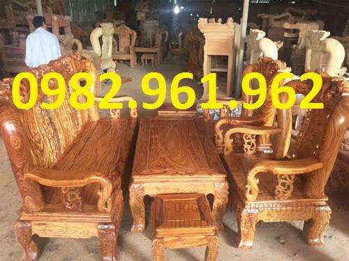 ghế phòng khách minh đào gỗ mua bán