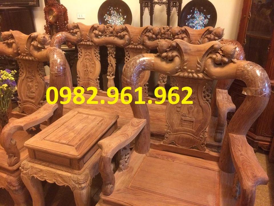ghế phòng khách minh đào gỗ xoan đào