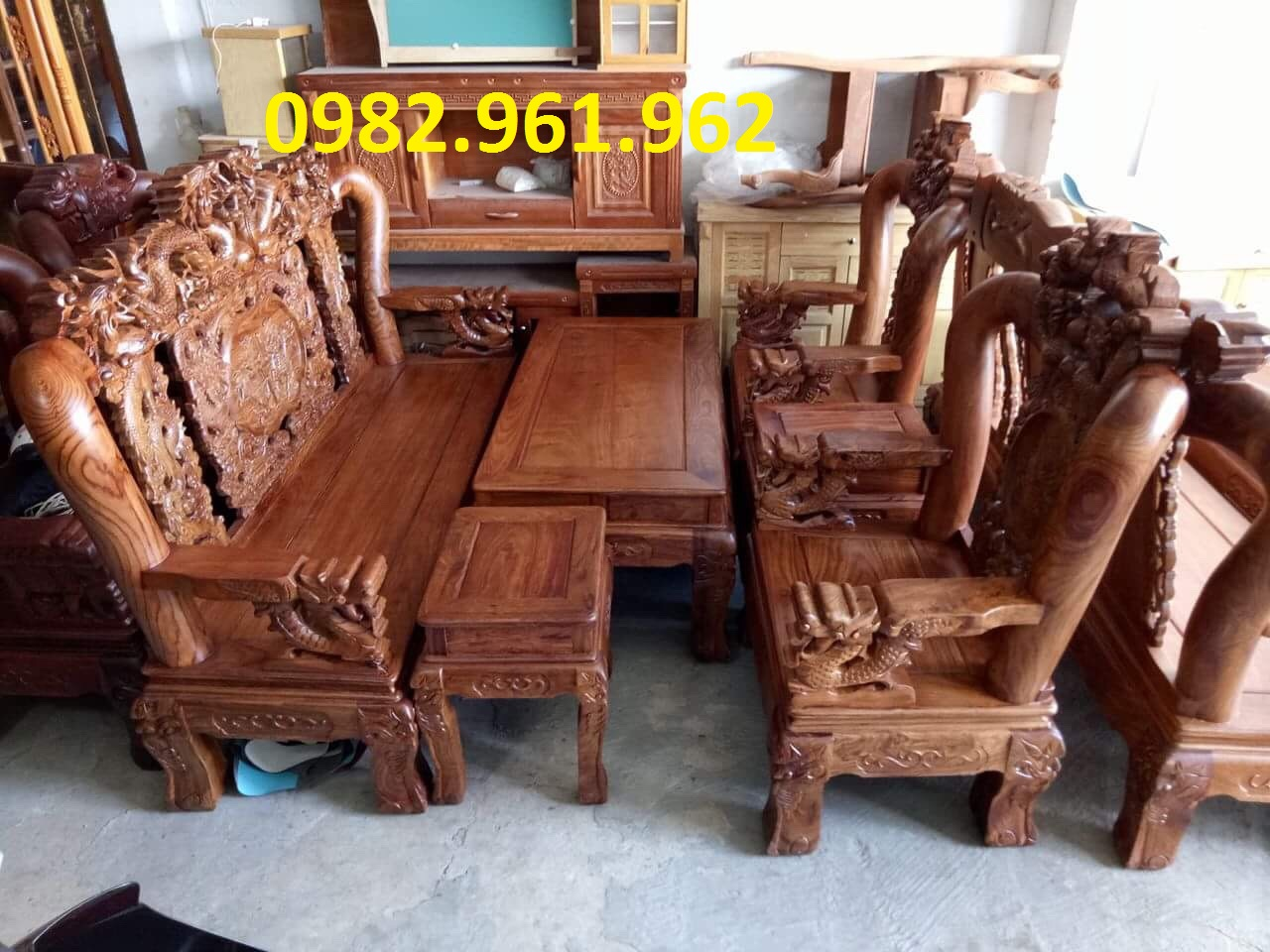 ghế tay voi gỗ