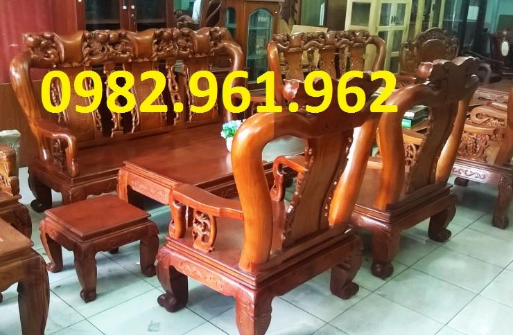 mẫu bàn ghế phòng khách minh đào gỗ hương