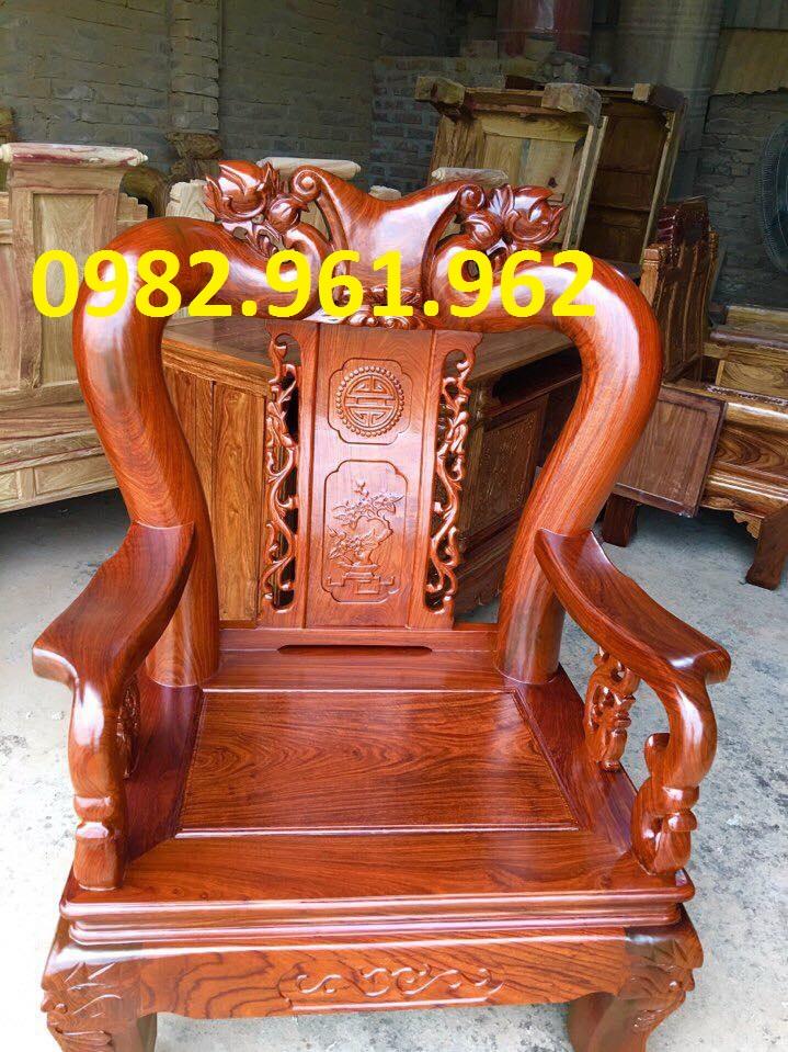 mẫu ghế tay voi gỗ hương vân