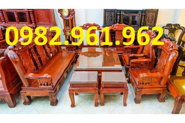 mẫu ghế tay voi gỗ hương
