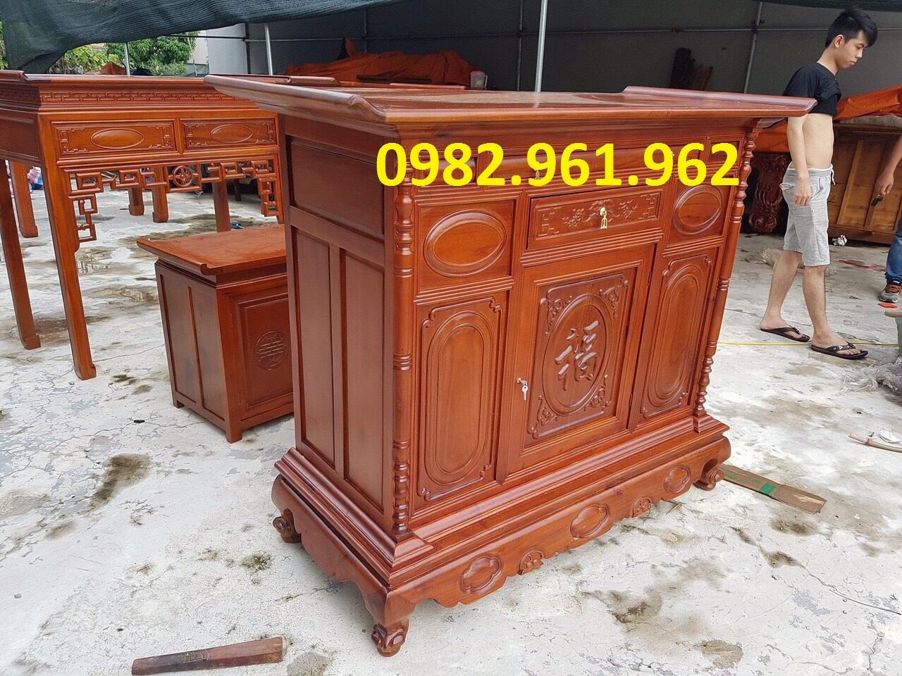tủ thờ gỗ gụ lào