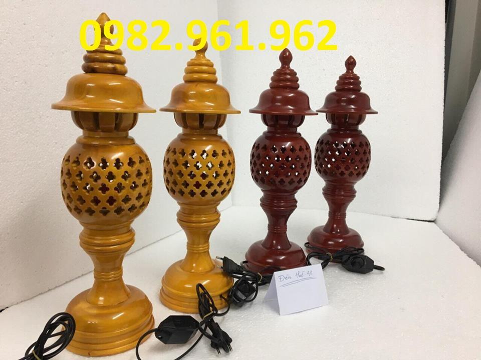 đèn thờ gỗ cao 41cm