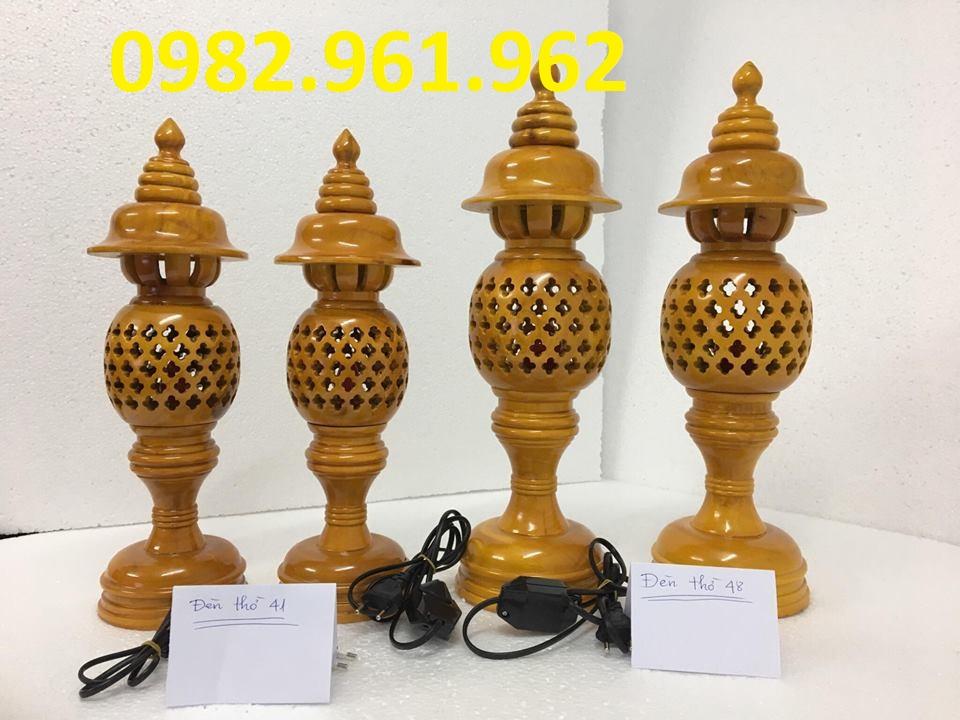 đèn thờ gỗ cao 48cm