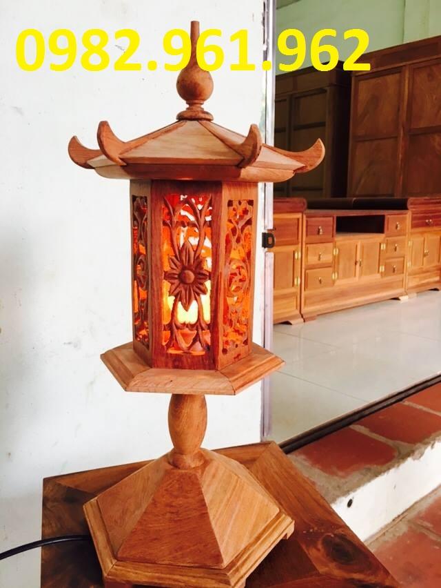 đèn thờ lục giá gỗ