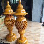 đèn thờ tổ ong màu vàng gỗ