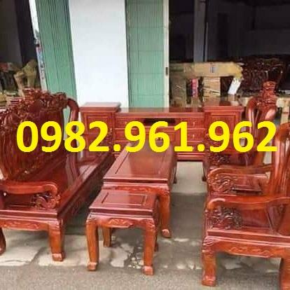 Bộ bàn ghế minh đào tay 12 gỗ hương đỏ