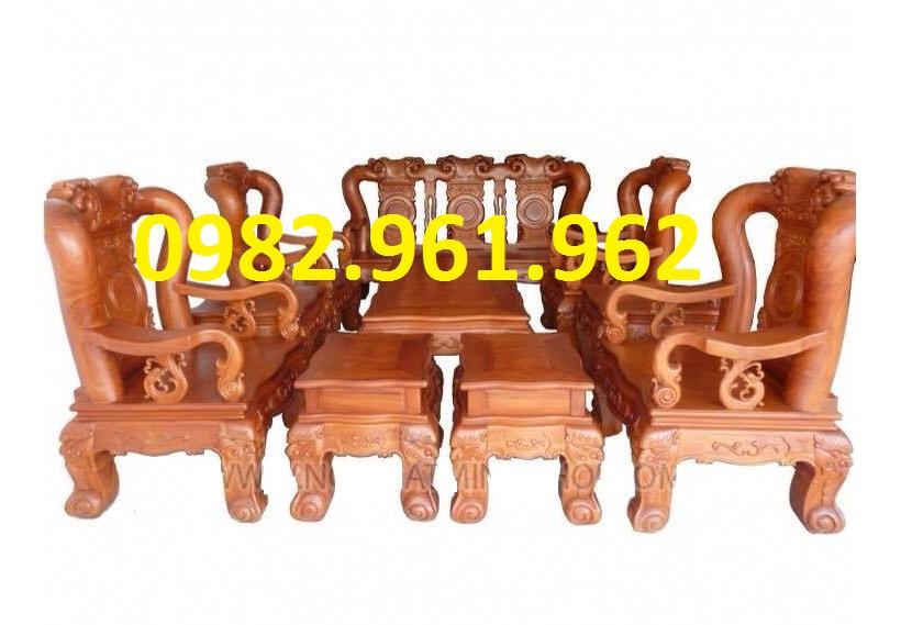 Bộ bàn ghế minh đào tay 12 gỗ hương ta
