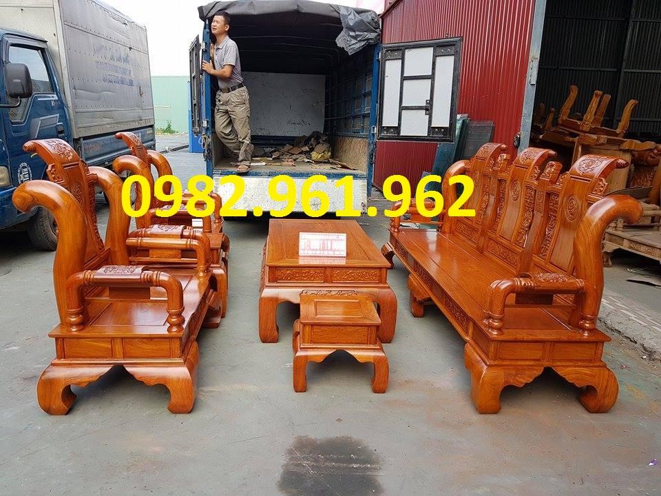 Bộ bàn ghế minh đào tay 12 gỗ hương