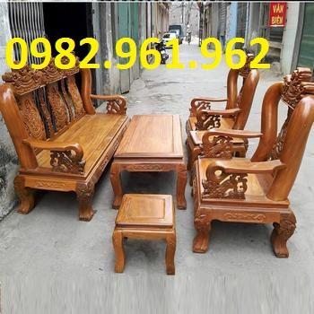 bộ bàn ghế minh đào tay 10