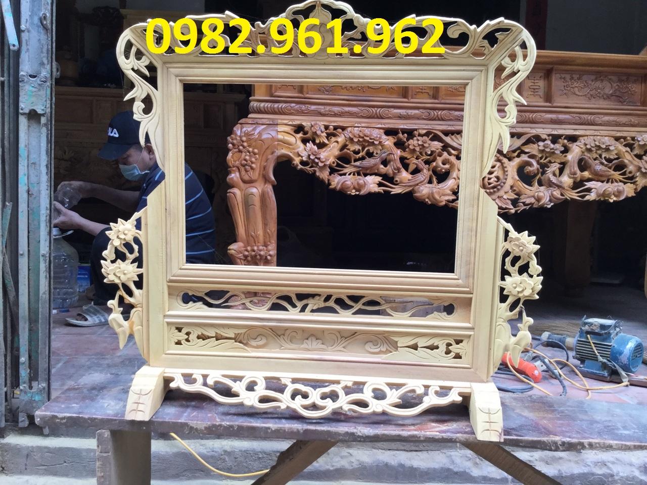 khung ảnh thờ đôi bằng gỗ