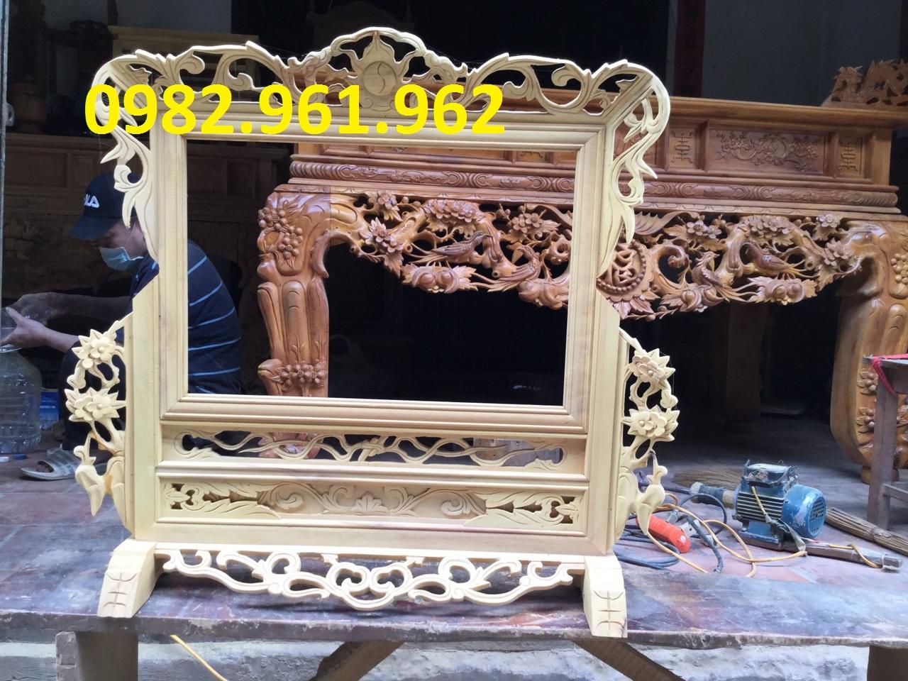 khung ảnh thờ đôi gỗ mít