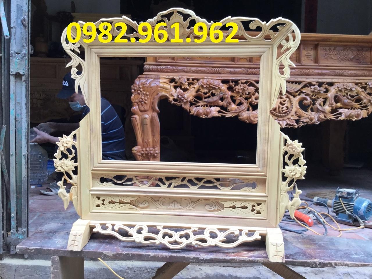 khung ảnh thờ đôi gỗ sơn pu