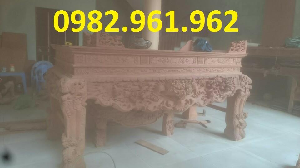 mẫu sập thờ gỗ mít chân 18