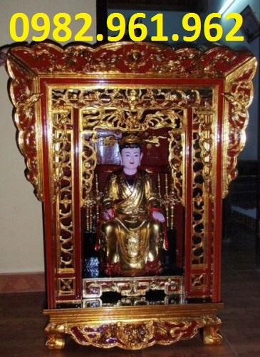 khám thờ bằng gỗ mít son son thiếp vàng