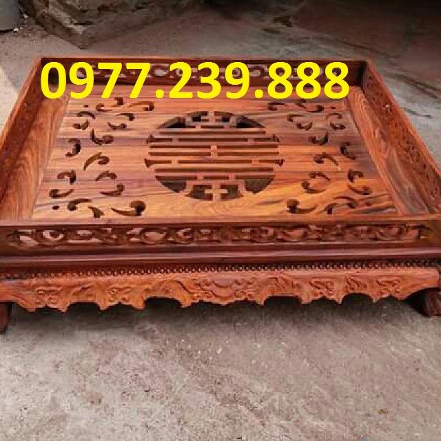 bán khay gỗ hương chân đỉnh 35x55cm