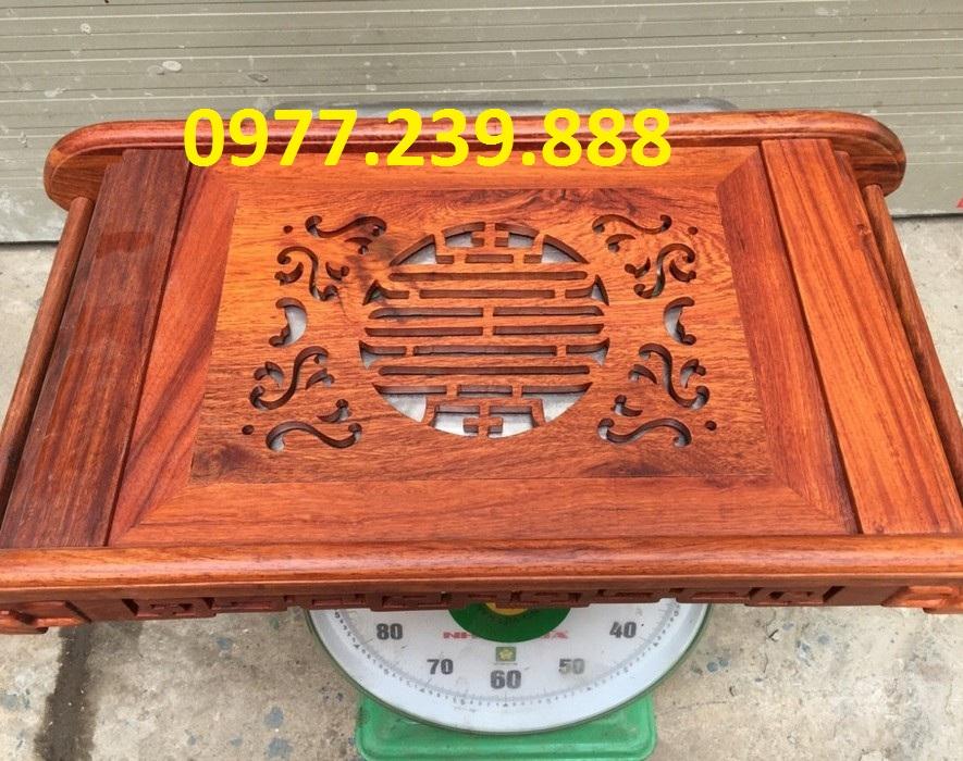 giá gốc Khay trà đạo chân cuốn bằng gỗ hương