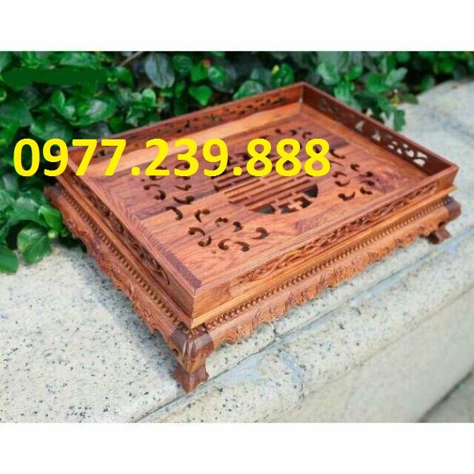 khay gỗ hương chân đỉnh