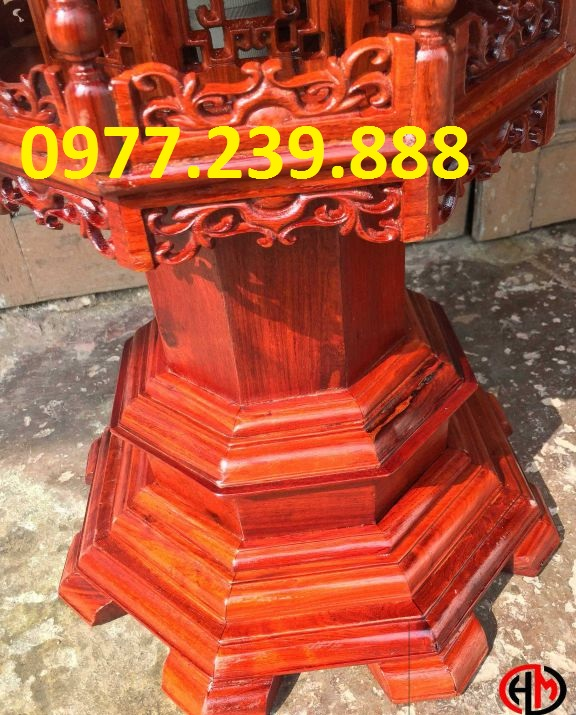 đèn mái chùa bằng gỗ hương