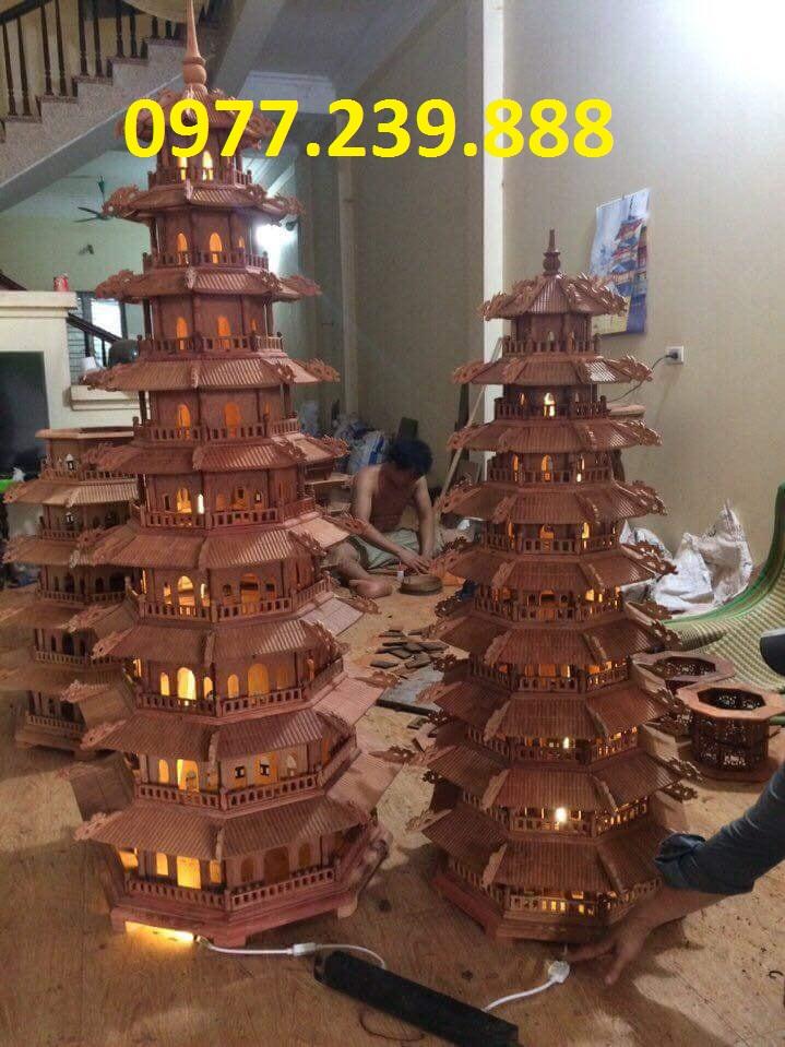 đèn tháp bằng gỗ