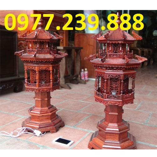 đèn thờ mái chùa gỗ hương lào