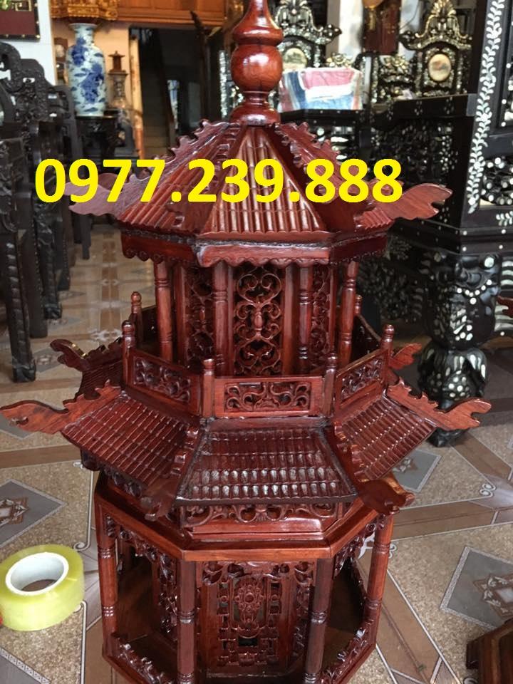 đèn thờ mái chùa gỗ