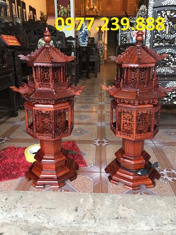 đèn thờ mái chùa hương đỏ