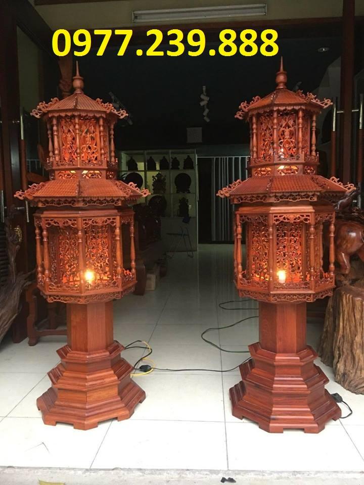 bán đèn mái chùa bằng gỗ trắc