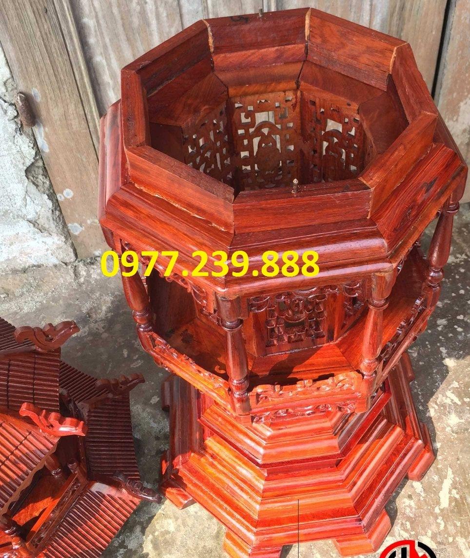 bán đèn mái chùa bằng gỗ