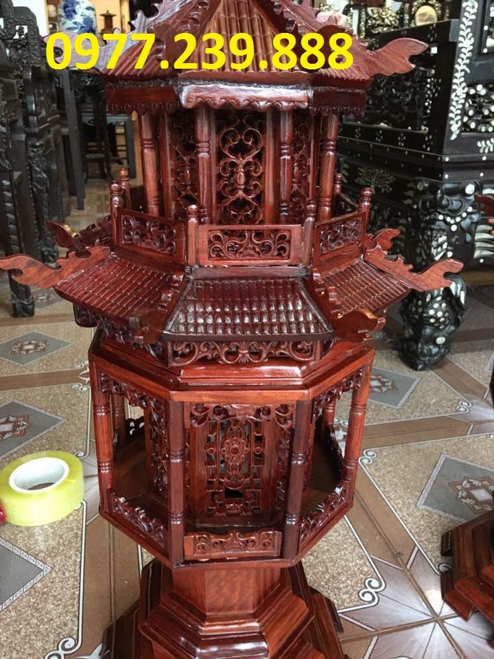 bán đèn mái chùa gỗ hương