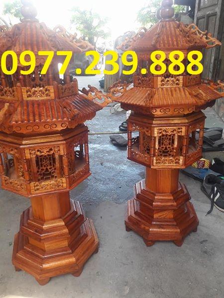 bán đèn mái chùa gỗ